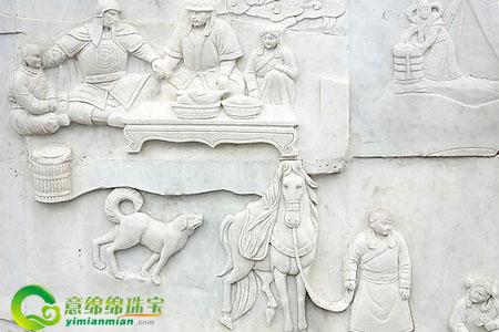 汉白玉浮雕的价值,如何正确清洗汉白玉浮雕