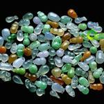 缅甸老坑冰玻璃种七彩天然翡翠A货玉配件批发