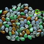 缅甸老坑玻璃种七彩天然翡翠A货玉福瓜小吊坠批发