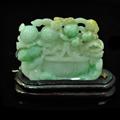 花开富贵摆件缅甸天然龙8国际|appA货高6.5cm*宽7.5cm*厚1.1cm