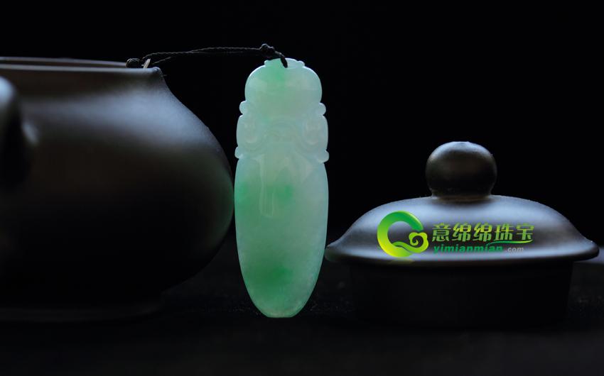 缅甸老坑天然A货冰糯种翡翠玉福瓜挂件