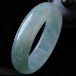 緬甸老坑天然冰種翡翠A貨圓形手鐲 內徑60.5MM
