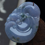 财聚天下缅甸老坑冰糯种天然A货紫罗兰翡翠如意貔貅挂件