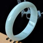 冰雪动人缅甸冰糯种翡翠圆手镯59.5mm