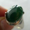 精致典雅缅甸A货冰油青翡翠镶嵌戒指
