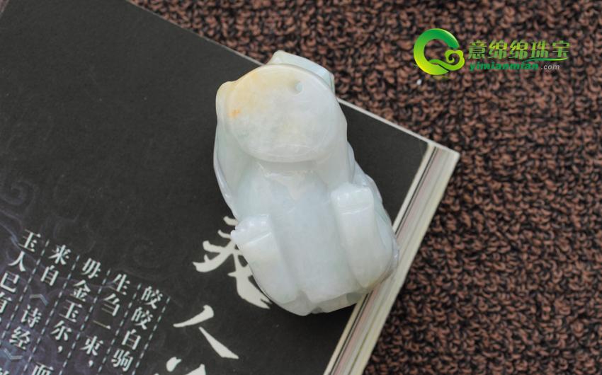 缅甸天然A货冰糯种翡翠招财貔貅