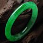 婉若游龙天然老坑威廉希尔A货满绿圆条手镯(非卖) 内径56.5MM