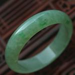 緬甸天然翡翠A貨老坑糯冰種飄綠翡翠玉手鐲