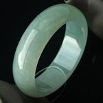 缅甸天然翡翠A货冰种翡翠手镯 内径58.3mm