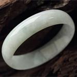 双瞳剪水天然缅甸老坑A货冰糯种翡翠手镯 内径52MM