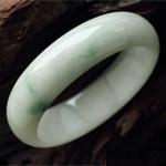 天然缅甸老坑A货冰糯种翡翠贵妃手镯 内径53.5mm