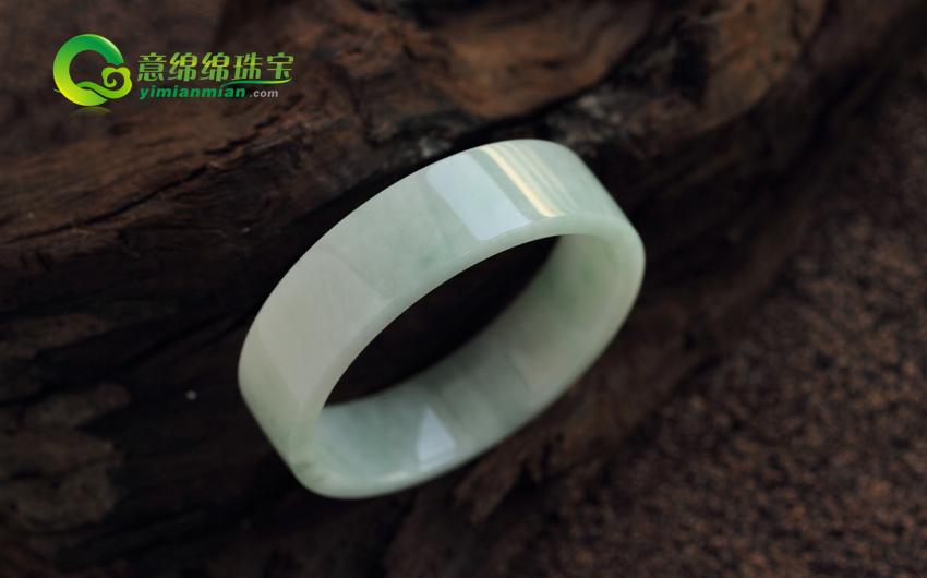 天然缅甸老坑A货糯种翡翠手镯 方镯 内径51mm