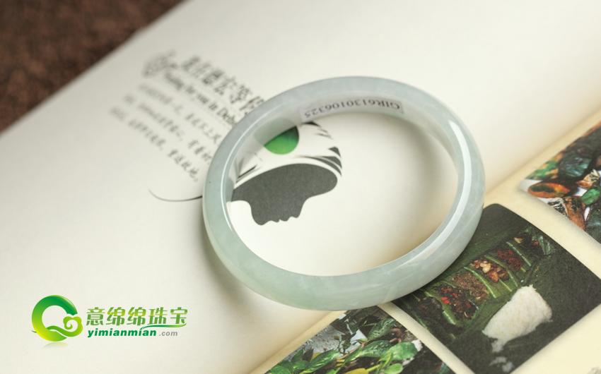 通体莹润天然缅甸老坑A货冰糯种龙8国际|app手镯贵妃手镯56mm