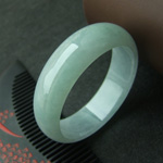 天然缅甸翡翠A货冰糯种翡翠手镯贵妃手镯56mm