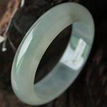 绝代风华缅甸天然翡翠A货冰种翡翠手镯 内径57.9mm