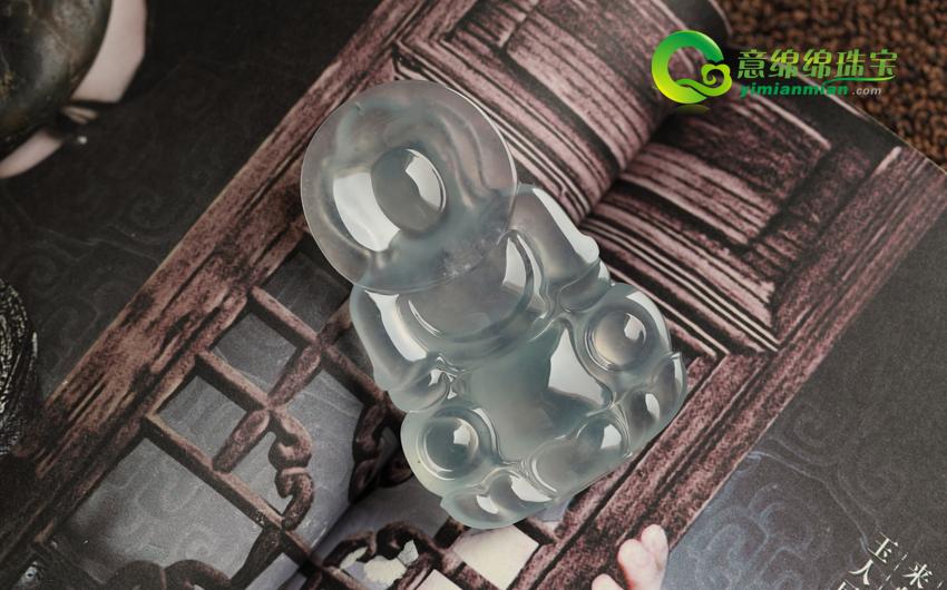 明媚向阳缅甸天然A货老坑玻璃种翡翠观音挂件