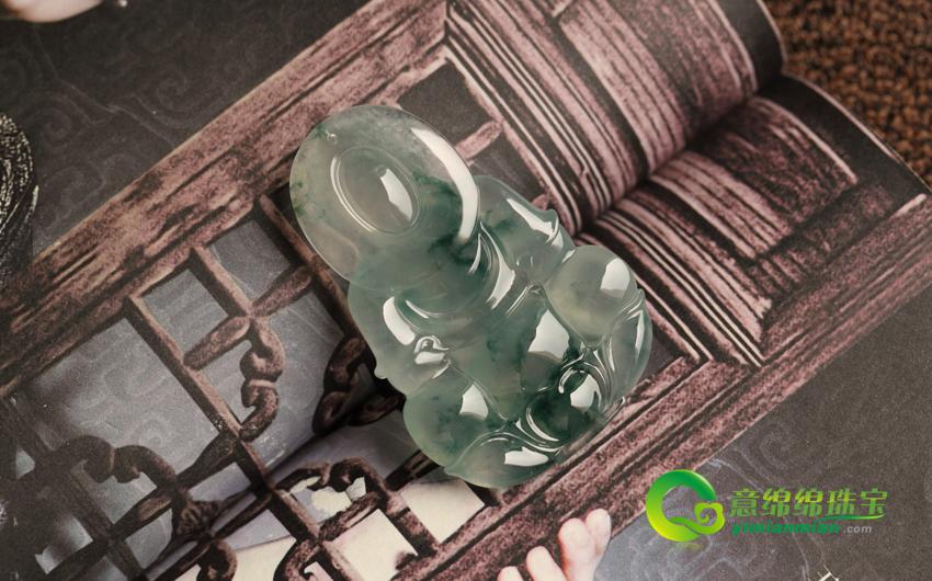 鬓影钗光缅甸天然A货翡翠老坑冰种飘花美高梅娱乐手机版官网挂件