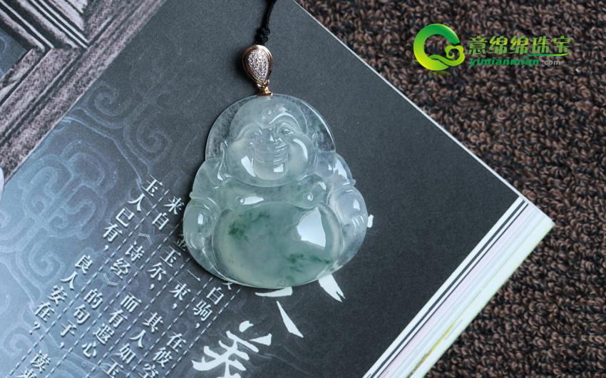 三生石上印笑痕 佩以翡翠佛公享悠然一心