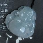相谙静好缅甸天然老坑冰种翡翠A货玉佛公挂件
