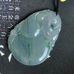 缅甸冰糯种天然翡翠玉葫芦挂件 A货葫芦吊坠