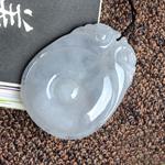 缅甸天然冰糯种A货翡翠玉貔貅如意挂件