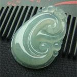 画脂镂冰天然缅甸龙8国际|appA货冰种油清如意挂件