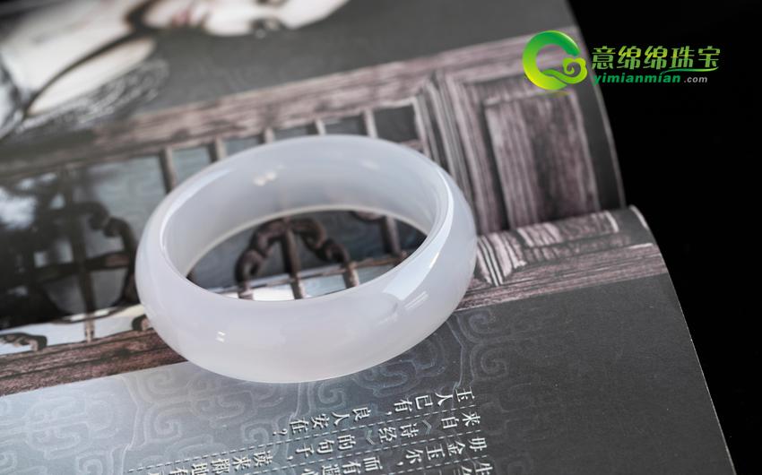 冰糖玛瑙手镯晶莹内径59.3mm