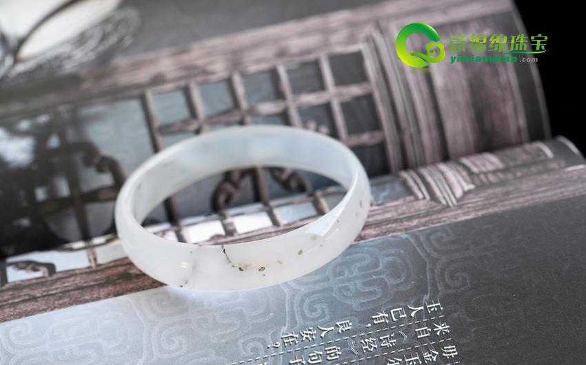 天然水草玛瑙手镯内径55.3mm