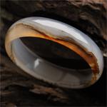 峰峦雄伟天然大漠水草玛瑙手镯 内径56.1mm