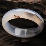 云霧飄渺天然水墨瑪瑙手鐲 內徑54.3mm