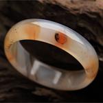 金风玉露天然海底世界玛瑙手镯 内径56mm