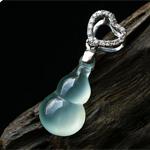 缅甸老坑玻璃种A货翡翠玉葫芦吊坠