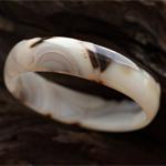 天然石斑玛瑙黑纹手镯内径 52.3mm