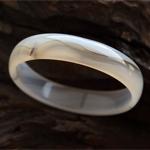 淡黄的天然水草玛瑙手镯内径51.3mm