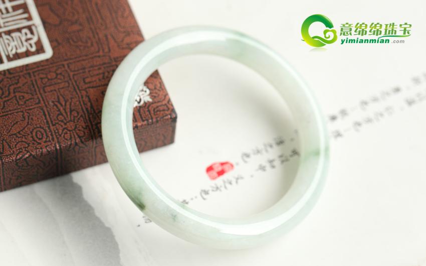 春风和气喜气迎新缅甸天然翡翠A货玉手镯56mm