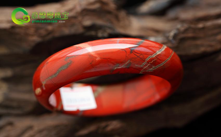 浮翠流丹天然南红玛瑙手镯  内径59.5mm