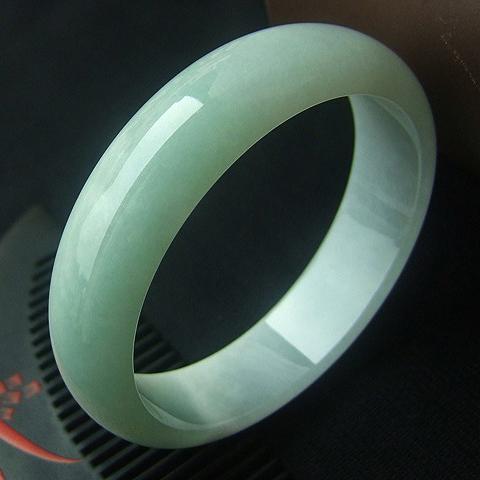 風光旖旎天然緬甸A貨冰糯種翡翠手鐲  內徑57mm