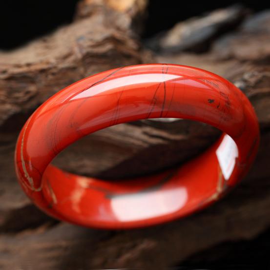 浮翠流丹天然南紅瑪瑙手鐲  內徑59.5mm