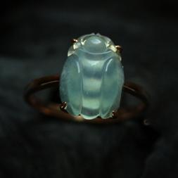 如胶似漆天然缅甸A货玻璃种小蜜蜂翡翠戒指-女款