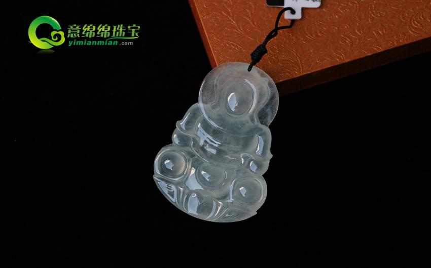 一念笙歌天然缅甸老坑A货冰种翡翠美高梅娱乐手机版官网挂件