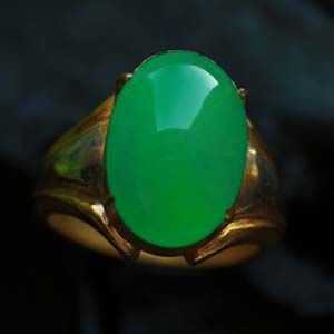 天然缅甸老坑A货冰糯种老坑满绿翡翠裸石戒指蛋面