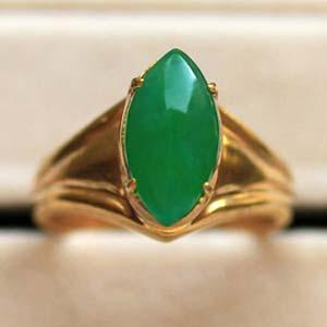 天然缅甸老坑A货冰糯种满绿翡翠马眼戒面裸石戒指