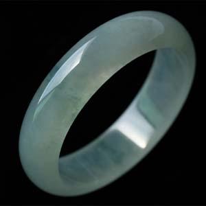 盈盈一水间天然缅甸老坑A货冰种翡翠手镯内径56.9mm