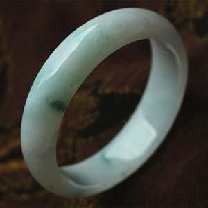 闭月羞花天然缅甸老坑A货冰糯种飘花翡翠手镯内径57.2mm