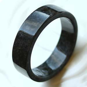 天然缅甸老坑A货黑翡翠手镯内径60.5mm