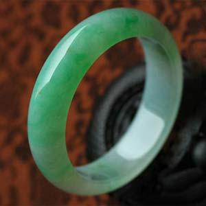 碧如若香天然缅甸老坑A货冰糯种绿翡翠手镯内径56.5mm