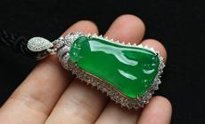 缅甸老坑玻璃种满绿天然翡翠A货玉佛手瓜挂件