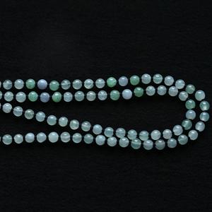 靜靜守候天然緬甸老坑A貨翡翠冰種玉石珠子項鏈掛件鏈掛繩