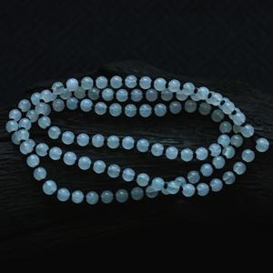 玲珑娇美天然缅甸老坑A货冰种翡翠玉石珠子项链挂件链绳