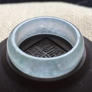 风华绝代天然缅甸翡翠A货老坑冰种戒指指环